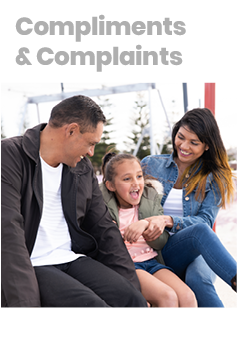 give us feedback - download the compliments and complaints brochure