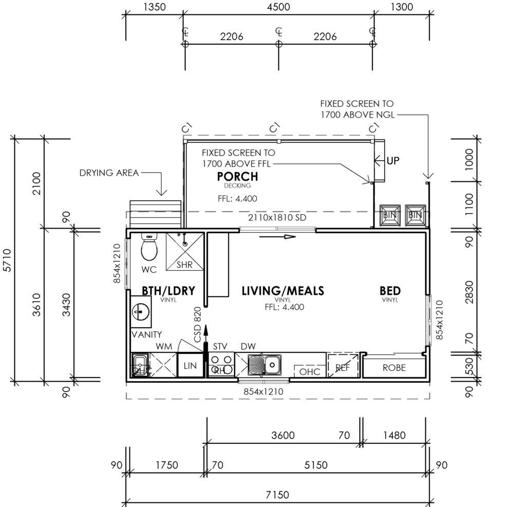 Floor Plan Tiny House Project Southwest WA